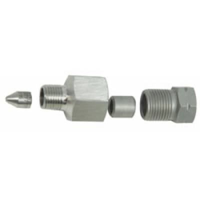 High Pressure Adapter 1/4 M x 3/8 F