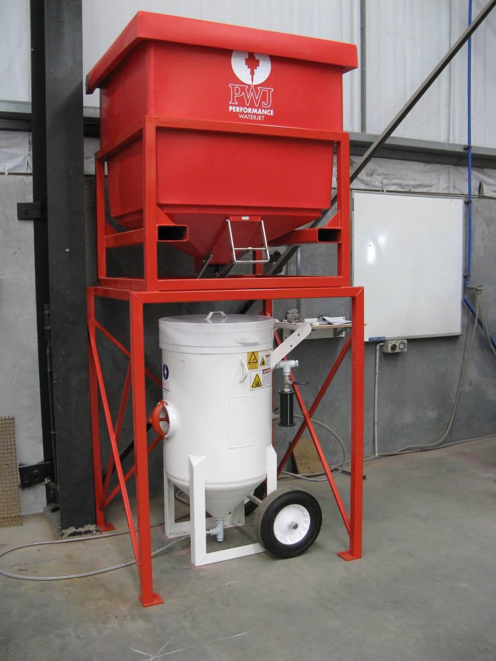 Abrasive Loading Hoppers Performance Waterjet Pwj