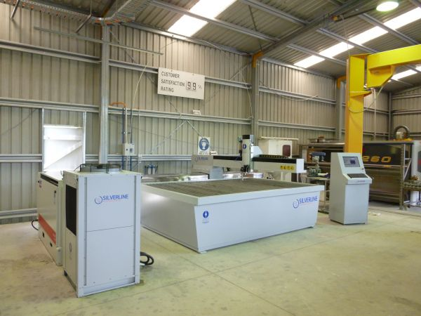 Silverline Waterjet System installed in a Glass Shop QLD