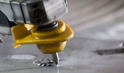 Mach 500 5 Axis Waterjet System in Action
