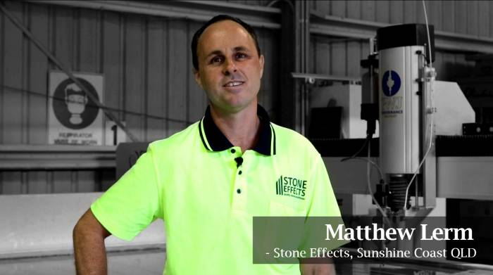 Matthew Lerm - Stone Effects Silverline Testimonial Photo testimonial