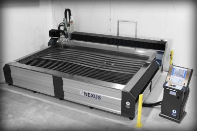 Nexus Water Jet Cutter Installed in Metal Fabrication Shop - NSW