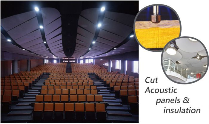 Cut Acoustic Panels & Insulation With Waterjet