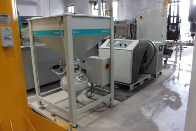 Flow Pump, Chiller & Garnet Abrasive Hopper