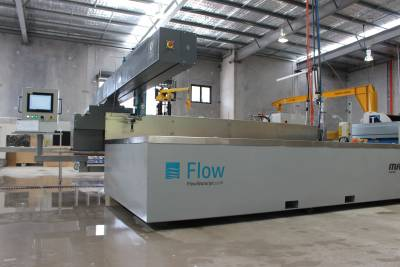 Flow Waterjet System installed for stone manufacturer Australia