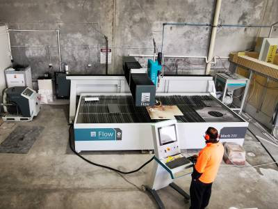 Pivot Plus waterjet installed in stone fabrication plant in Perth, WA